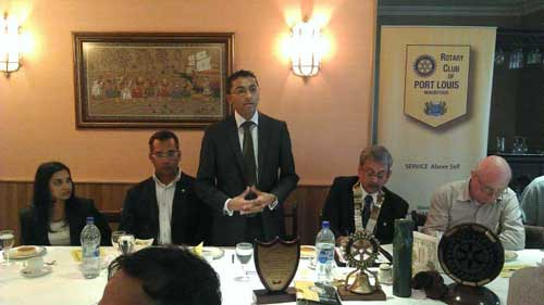 Meeting with Rotary Club members