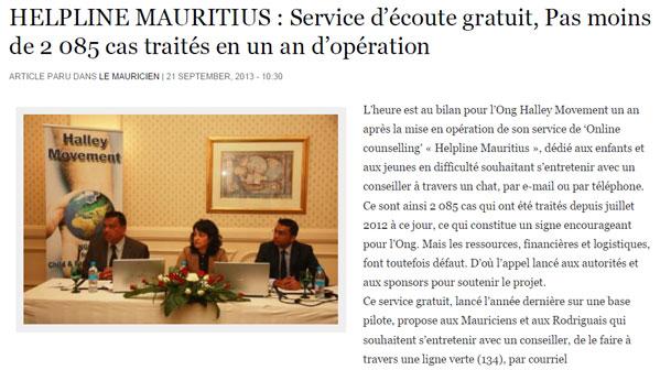 Helpline Mauritius