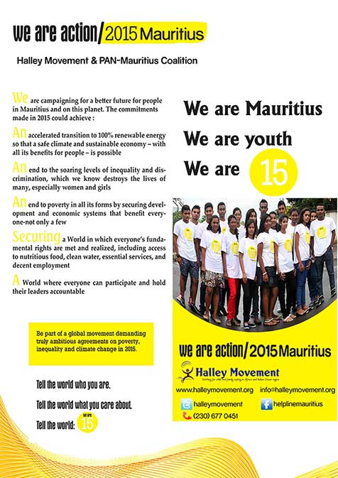 Action 2015 Mauritius Halley Movement