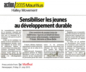 Press National Rally Action2015 Mauritius