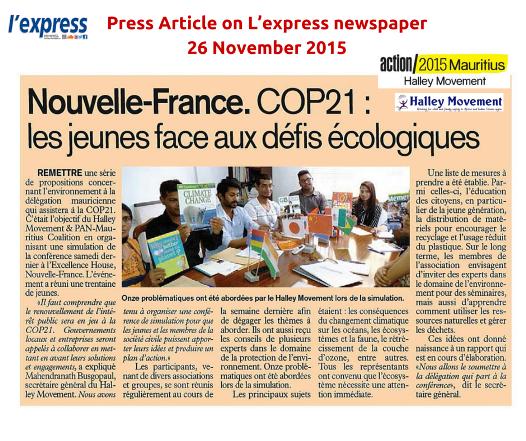 #COP21